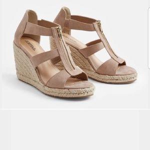 JustFab karsey wedge sandals size 8